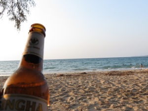 What better way to enjoy your vacation than enjoying a beer on the beach